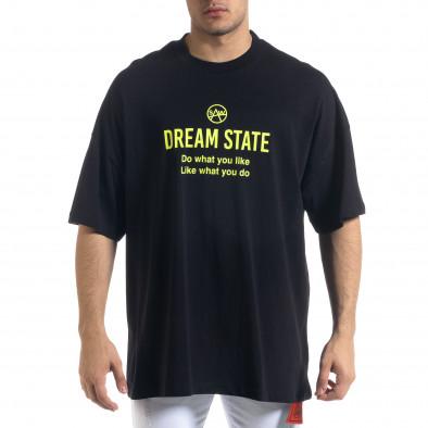 Ανδρική μαύρη κοντομάνικη μπλούζα SAW tr110320-2 2