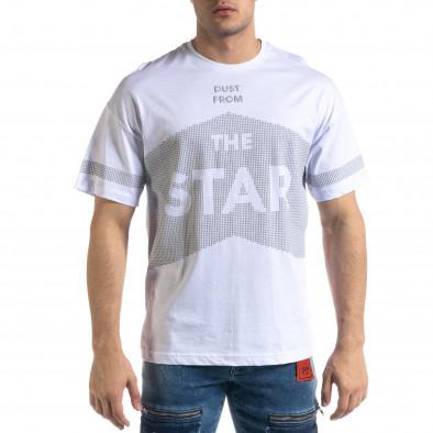 Ανδρική λευκή κοντομάνικη μπλούζα SAW tr110320-13 2