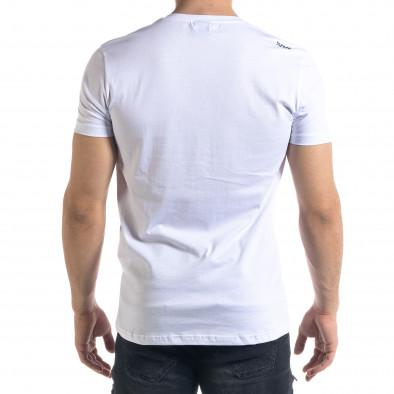 Ανδρική λευκή κοντομάνικη μπλούζα SAW tr110320-7 3
