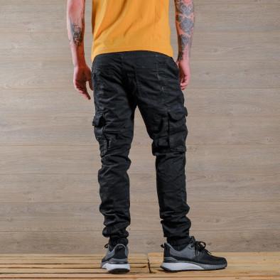 Ανδρικό μαύρο παντελόνι cargo Blackzi tr170320-5 4