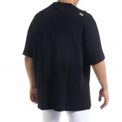 Ανδρική μαύρη κοντομάνικη μπλούζα SAW tr110320-2 3