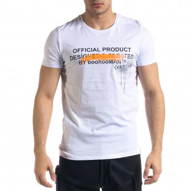 Ανδρική λευκή κοντομάνικη μπλούζα Lagos tr110320-30 2