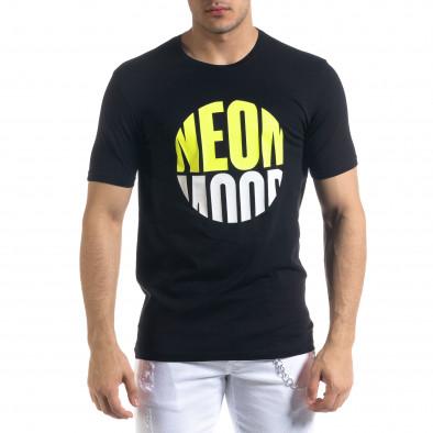 Ανδρική μαύρη κοντομάνικη μπλούζα Breezy tr110320-42 2