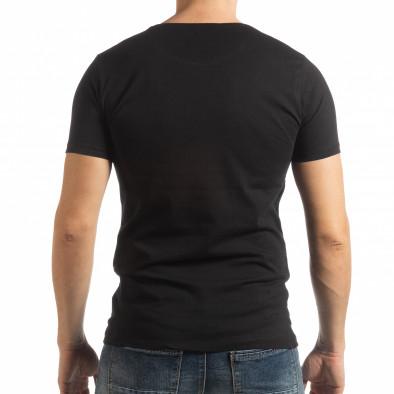 Ανδρική μαύρη κοντομάνικη μπλούζα Criticize tsf190219-62 3