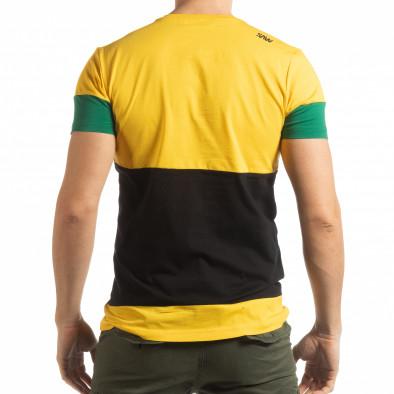 Ανδρική πολύχρωμη κοντομάνικη μπλούζα Move tsf190219-44 3