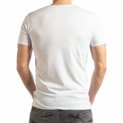 Ανδρική λευκή κοντομάνικη μπλούζα Criticize tsf190219-63 3