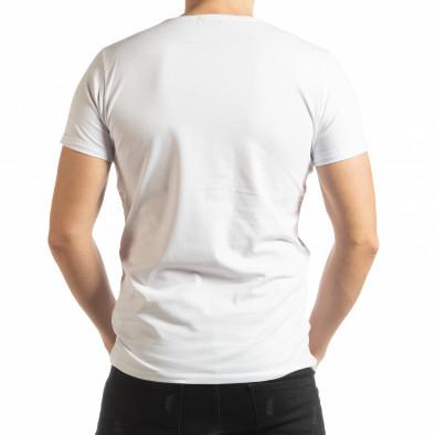 Ανδρική λευκή κοντομάνικη μπλούζα She is What tsf190219-66 3