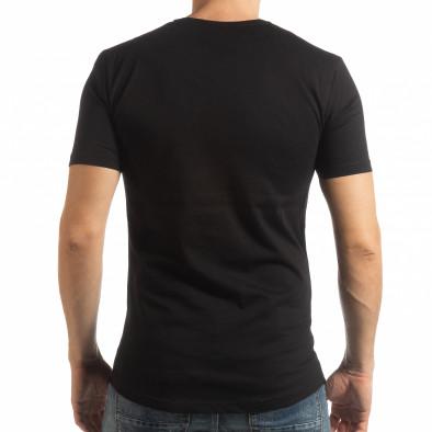 Ανδρική μαύρη κοντομάνικη μπλούζα To-Go tsf190219-24 3