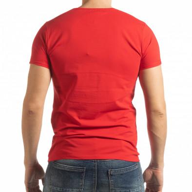 Ανδρική κόκκινη κοντομάνικη μπλούζα She is What tsf190219-64 3