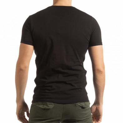 Ανδρική μαύρη κοντομάνικη μπλούζα She is What tsf190219-65 3