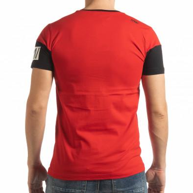 Ανδρική κόκκινη κοντομάνικη μπλούζα Money tsf190219-43 3