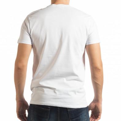 Ανδρική λευκή κοντομάνικη μπλούζα Ocean Racing tsf190219-78 4