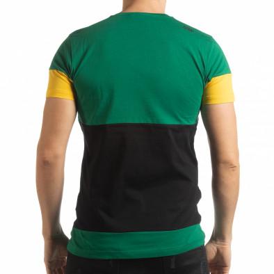 Ανδρική πολύχρωμη κοντομάνικη μπλούζα Move tsf190219-45 3