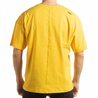 Ανδρική κίτρινη κοντομάνικη μπλούζα Imagination tsf190219-33 3