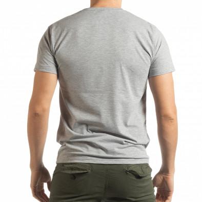 Ανδρική γκρι κοντομάνικη μπλούζα Chronograph tsf190219-77 3