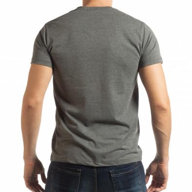 Ανδρική γκρι κοντομάνικη μπλούζα Denim Company tsf190219-84 3