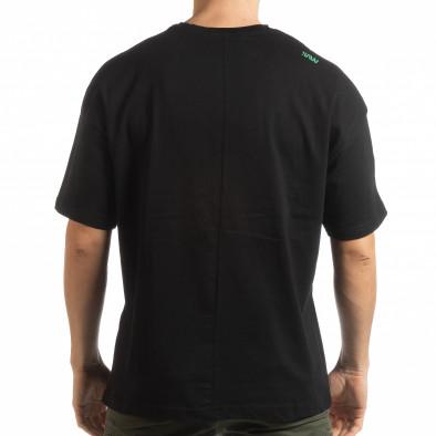 Ανδρική μαύρη κοντομάνικη μπλούζα Imagination tsf190219-32 3