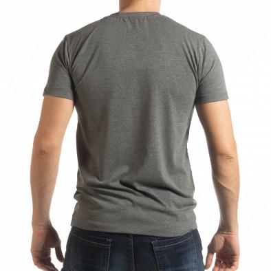 Ανδρική γκρι κοντομάνικη μπλούζα Ocean Racing tsf190219-79 3