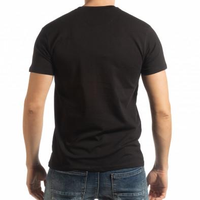 Ανδρική μαύρη κοντομάνικη μπλούζα Denim Company tsf190219-86 3