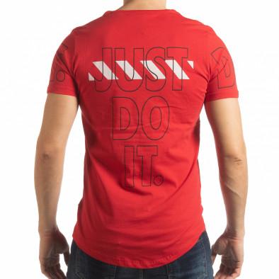 Ανδρική κόκκινη κοντομάνικη μπλούζα Just do it tsf190219-58 3