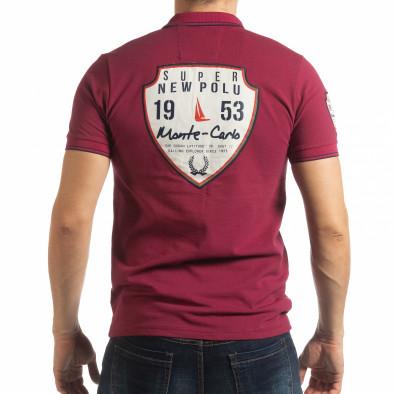 Ανδρική μπορντό κοντομάνικη polo shirt Royal cup tsf190219-90 3