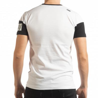 Ανδρική λευκή κοντομάνικη μπλούζα Money tsf190219-41 3