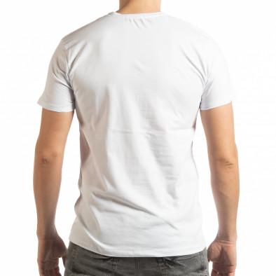 Ανδρική λευκή κοντομάνικη μπλούζα Denim Company tsf190219-85 3