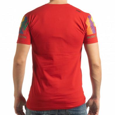 Ανδρική κόκκινη κοντομάνικη μπλούζα MTV Life tsf190219-34 3