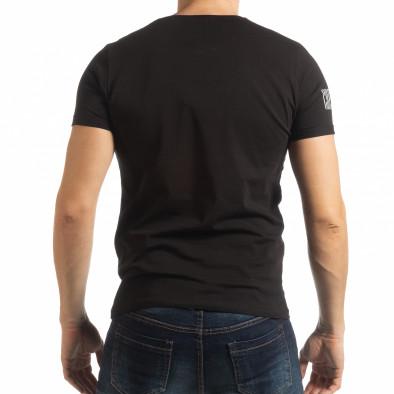 Ανδρική μαύρη κοντομάνικη μπλούζα Resurrection tsf190219-52 3