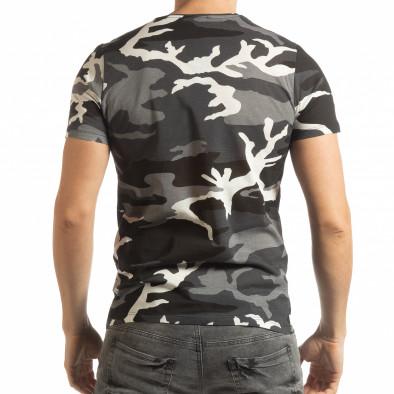 Ανδρική κοντομάνικη γκρι μπλούζα παραλλαγής tsf190219-5 4