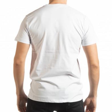 Ανδρική λευκή κοντομάνικη μπλούζα Enjoy Your Life tsf190219-75 3