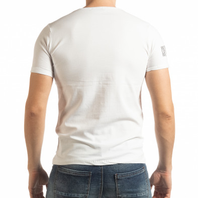 Ανδρική λευκή κοντομάνικη μπλούζα Resurrection tsf190219-53 3