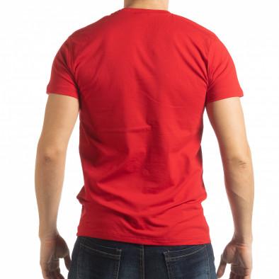 Ανδρική κόκκινη κοντομάνικη μπλούζα Sound tsf190219-67 3