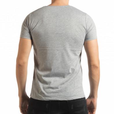 Ανδρική γκρι κοντομάνικη μπλούζα Criticize tsf190219-61 3