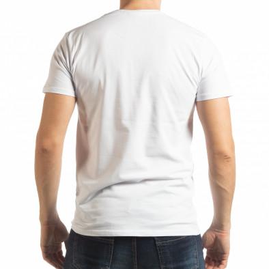 Ανδρική λευκή κοντομάνικη μπλούζα  Street Run tsf190219-82 3