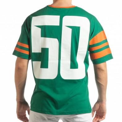 Ανδρική πράσινη κοντομάνικη μπλούζα The Wave tsf190219-38 3