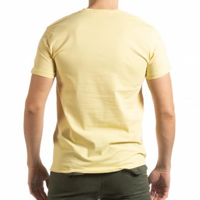 Ανδρική κίτρινη κοντομάνικη μπλούζα Denim Company tsf190219-87 3