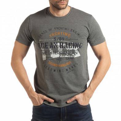 Ανδρική γκρι κοντομάνικη μπλούζα Ocean Racing tsf190219-79 2