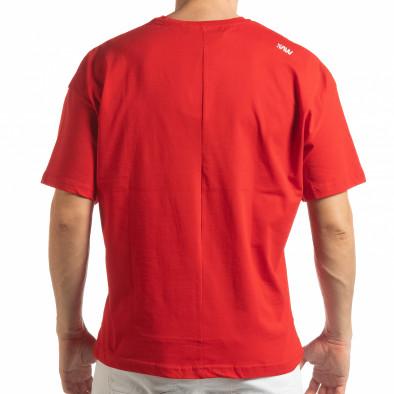 Ανδρική κόκκινη κοντομάνικη μπλούζα Imagination tsf190219-31 3