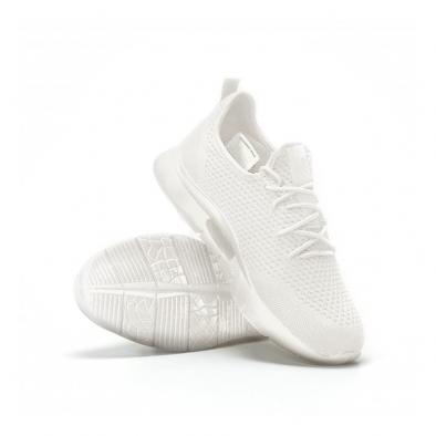 Ανδρικά λευκά αθλητικά παπούτσια Hole design ελαφρύ μοντέλο it160719-1 4