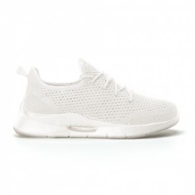 Ανδρικά λευκά αθλητικά παπούτσια Hole design ελαφρύ μοντέλο it160719-1 2