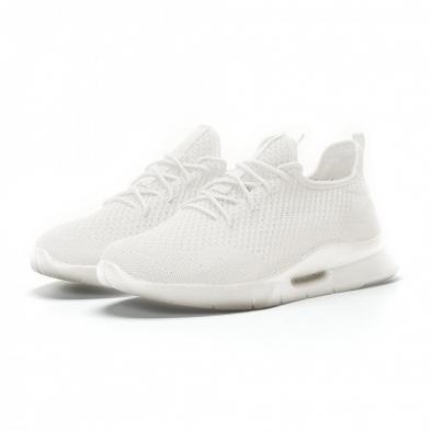 Ανδρικά λευκά αθλητικά παπούτσια Hole design ελαφρύ μοντέλο it160719-1 3
