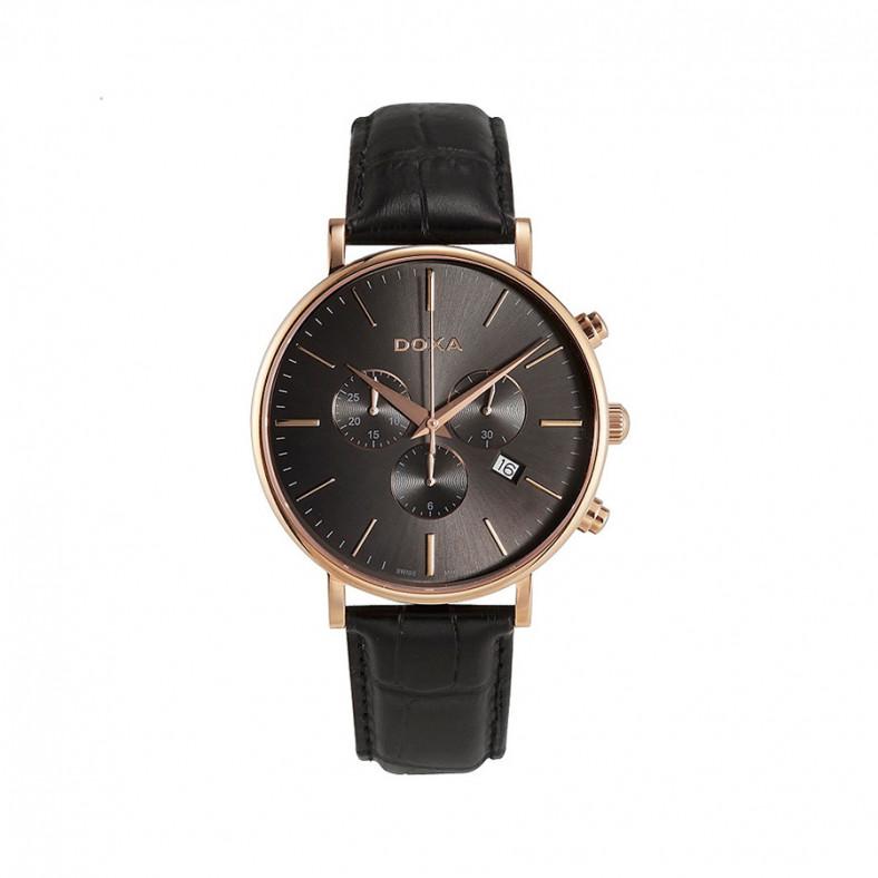Ανδρικό ρολόι Doxa D-Light Black Quartz Chronograph