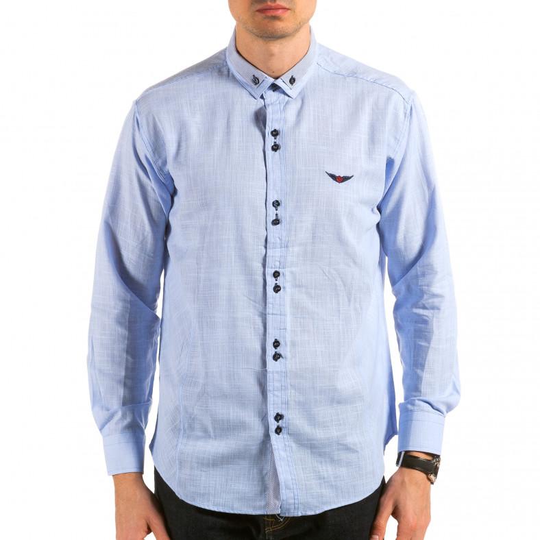Ανδρικό γαλάζιο πουκάμισο Royal Kaporal Royal Kaporal 4