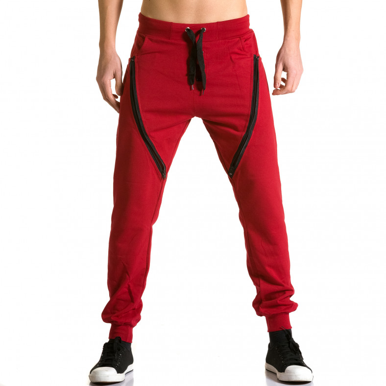 Ανδρικό κόκκινο παντελόνι jogger DelPiero DelPiero 5