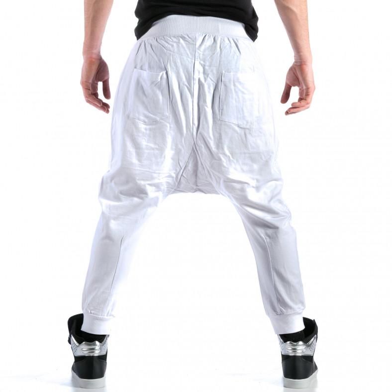 Ανδρικό λευκό παντελόνι jogger Bruno Leoni Bruno Leoni 4