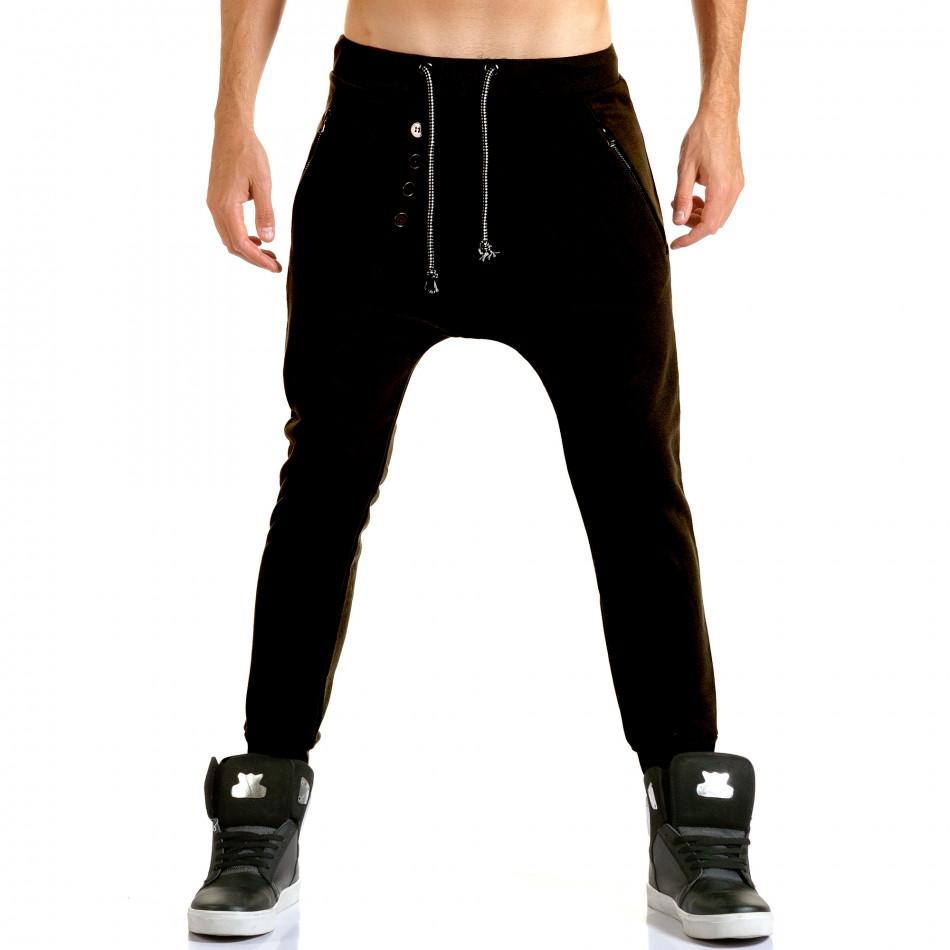 Ανδρικό μαύρο παντελόνι jogger Jack Berry it110915-29