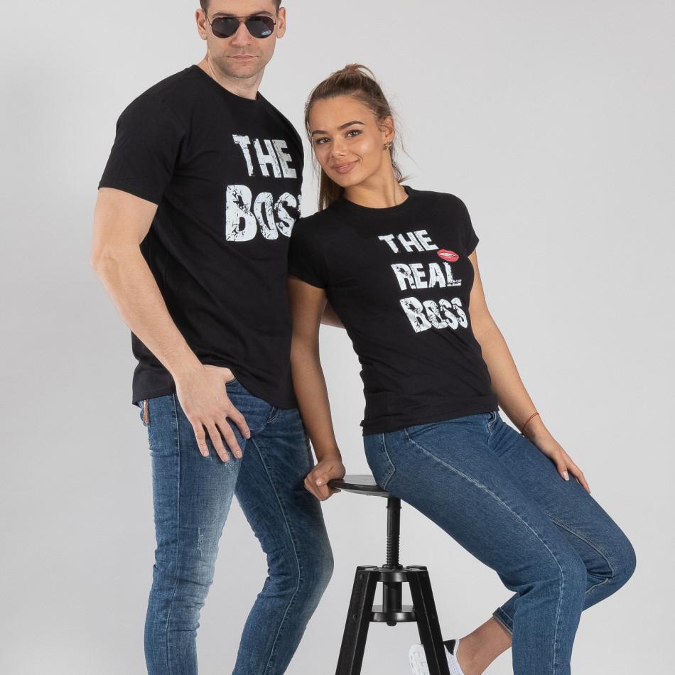 Μπλουζες για ζευγάρια Boss μαύρο TMN-CP-140