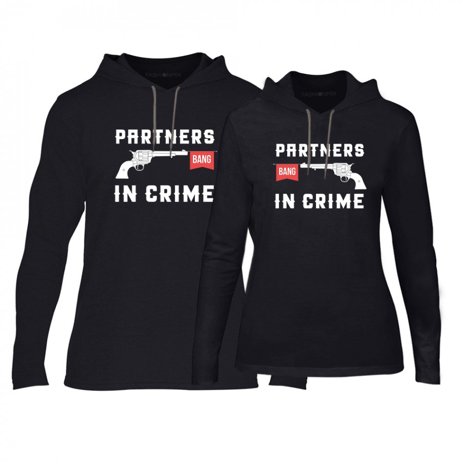 Φούτερ για ζευγάρια Partners in Crime μαύρο TMN-CPS-081