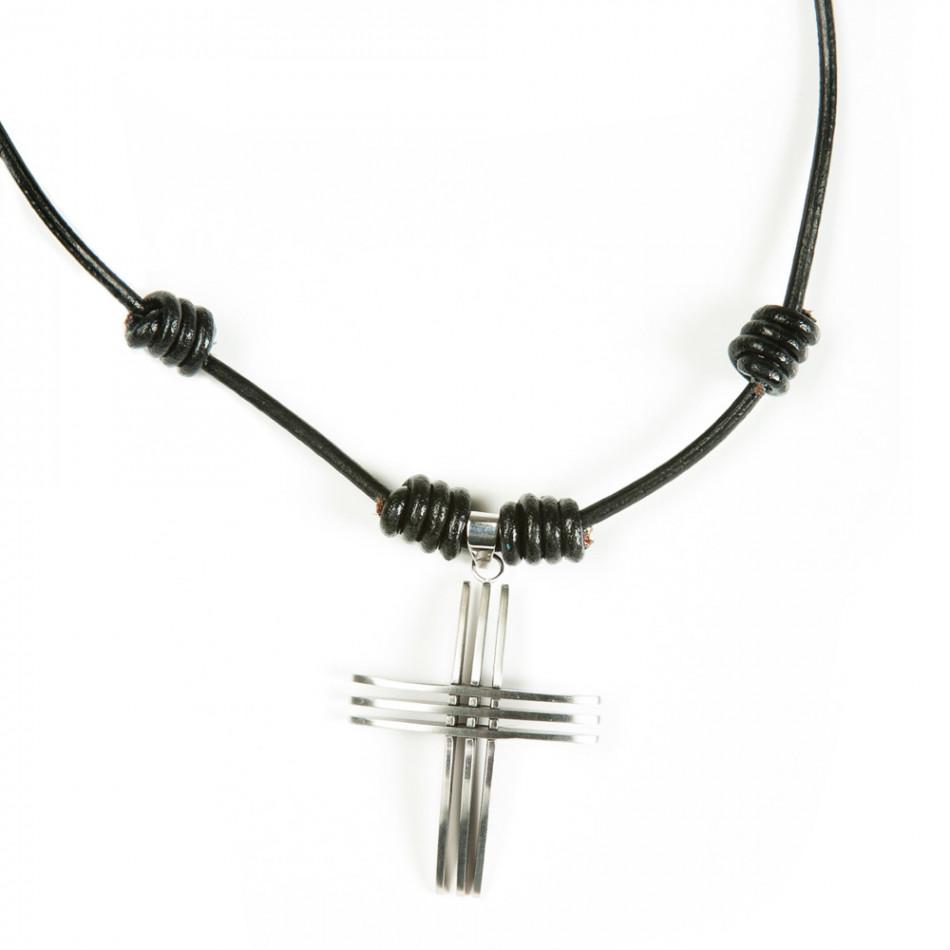 Ανδρικό μαύρο κολιέ Fashionmix UM2209121